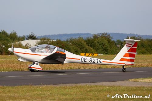 OE-9214 Hoffmann H-36 Dimona kwam binnen met de Kroatische Robin