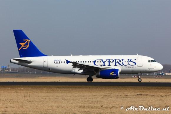 5B-DCF Airbus A319-132 Cyprus Airways