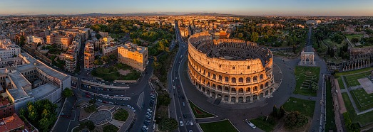Roman Colosseum, Italy - AirPano.com • 360 Degree Aerial Panorama • 3D Virtual Tours Around the World