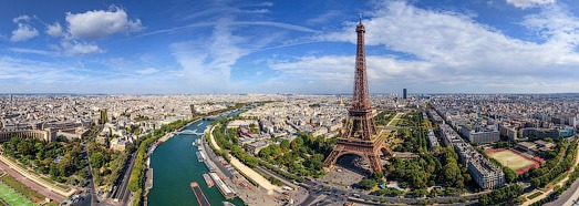 Eiffel Tower, Paris, France - AirPano.com • 360 Degree Aerial Panorama • 3D Virtual Tours Around the World