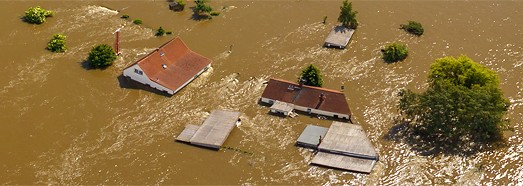 Flooding in Germany,  2013 - AirPano.com • 360 Degree Aerial Panorama • 3D Virtual Tours Around the World