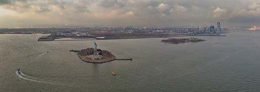 Statue of Liberty, Liberty Island, New York, USA - AirPano.com • 360 Degree Aerial Panorama • 3D Virtual Tours Around the World