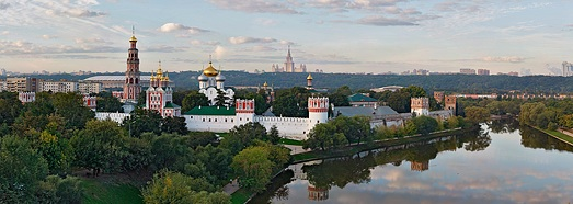 Novodevichy Convent, Moscow - AirPano.com • 360 Degree Aerial Panorama • 3D Virtual Tours Around the World