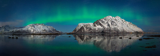 Βόρεια φώτα στη Νορβηγία • AirPano.com • 360 ° εναέρια πανοράματα • 360 ° εικονικές περιηγήσεις σε όλο τον κόσμο