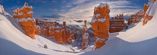 Каньон Брайс зимой, Юта, США - AirPano.ru • 360 Градусов Аэрофотопанорамы • 3D Виртуальные Туры Вокруг Света