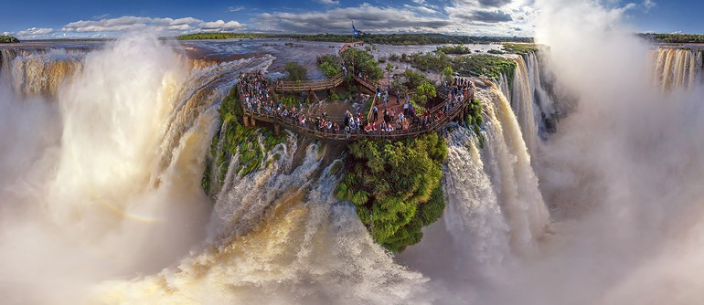 Iguasu Falls, Argentina-Brazil. Grand tour - AirPano.com • 360 Degree Aerial Panorama • 3D Virtual Tours Around the World