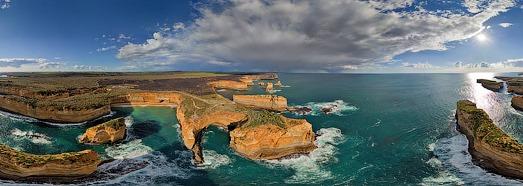 Двенадцать Апостолов, Австралия - AirPano.ru • 360 Градусов Аэрофотопанорамы • 3D Виртуальные Туры Вокруг Света