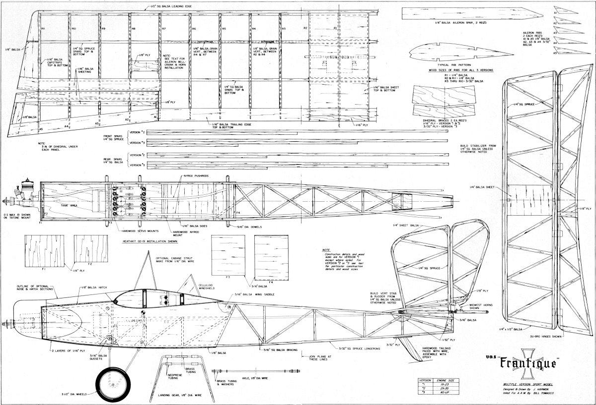 Wood Balsa Wood Plane Plans Free PDF Plans