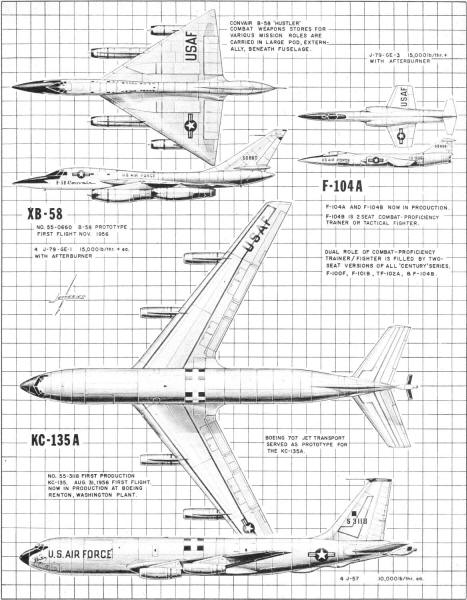 Newcomers to America's Jet Air Force, October 1957