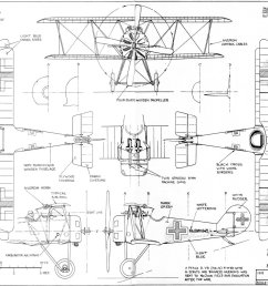 3 view aircraft drawings [ 1600 x 1134 Pixel ]