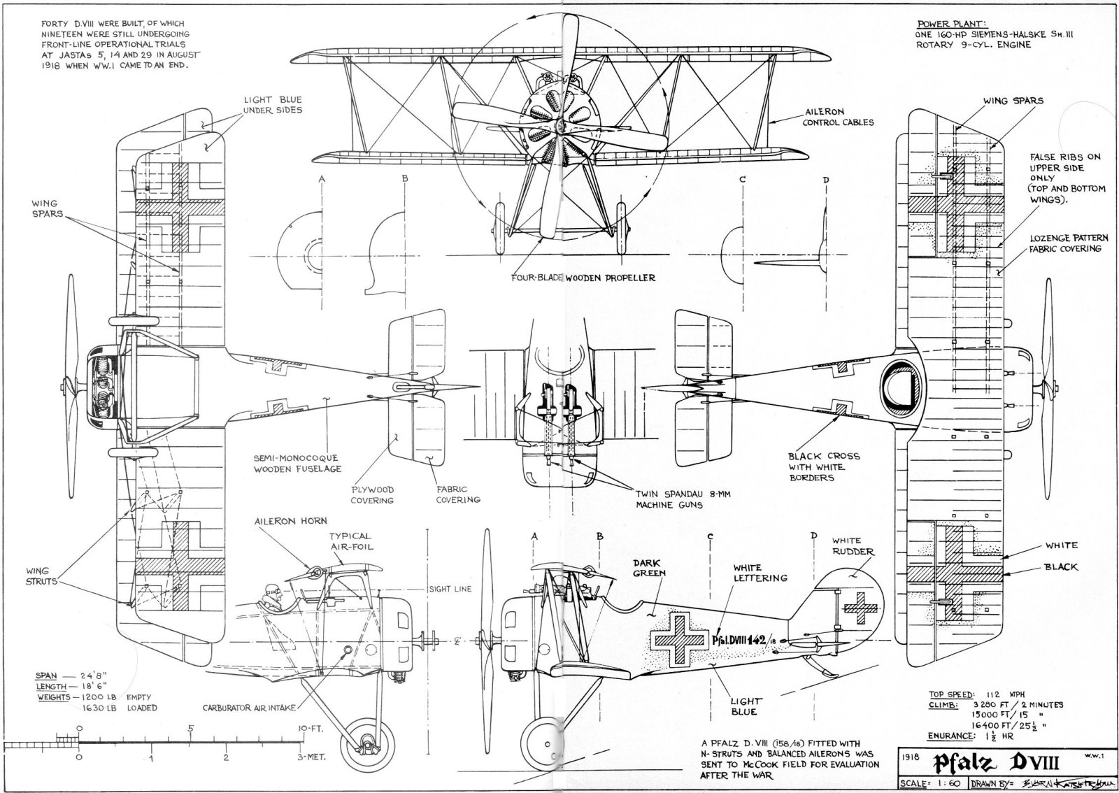 hight resolution of 3 view aircraft drawings
