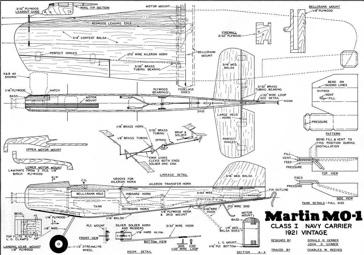 Martin Mo 1 Article Amp Plans August American Aircraft