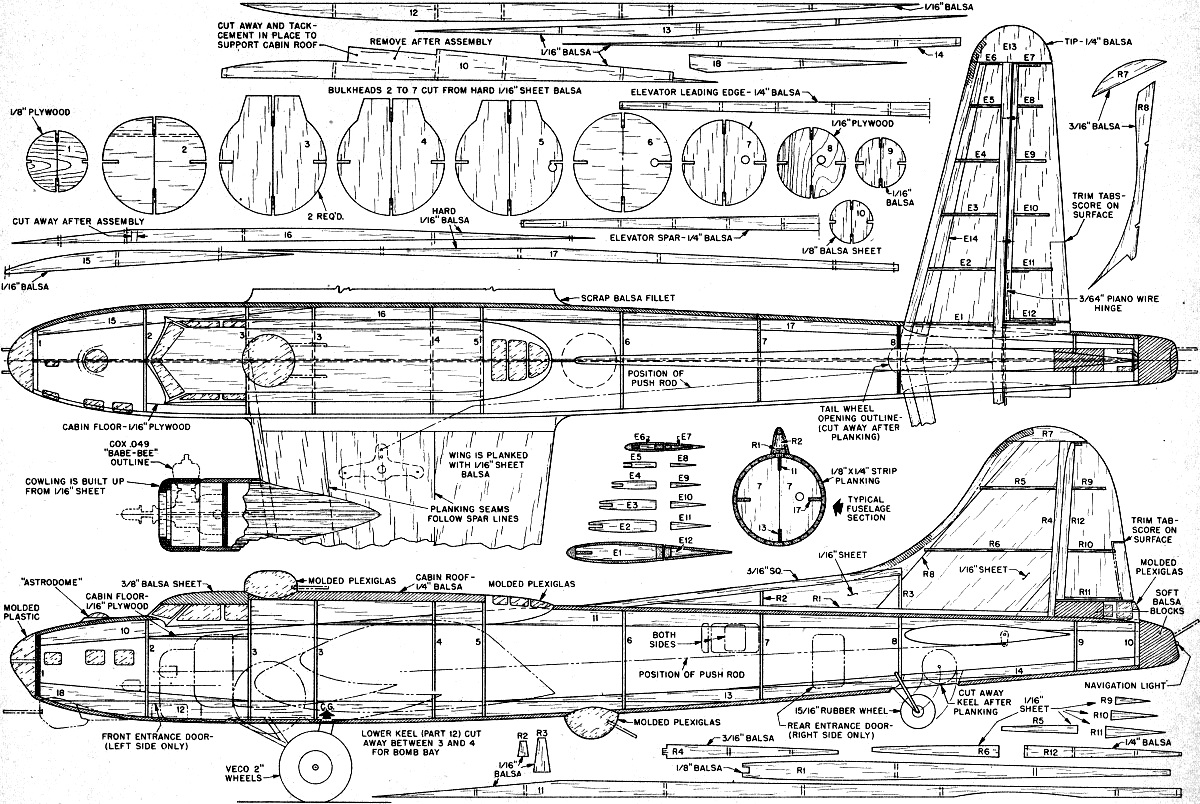 Retracting Gear B 17g Control Liner Article Amp Plans July August American Modeler