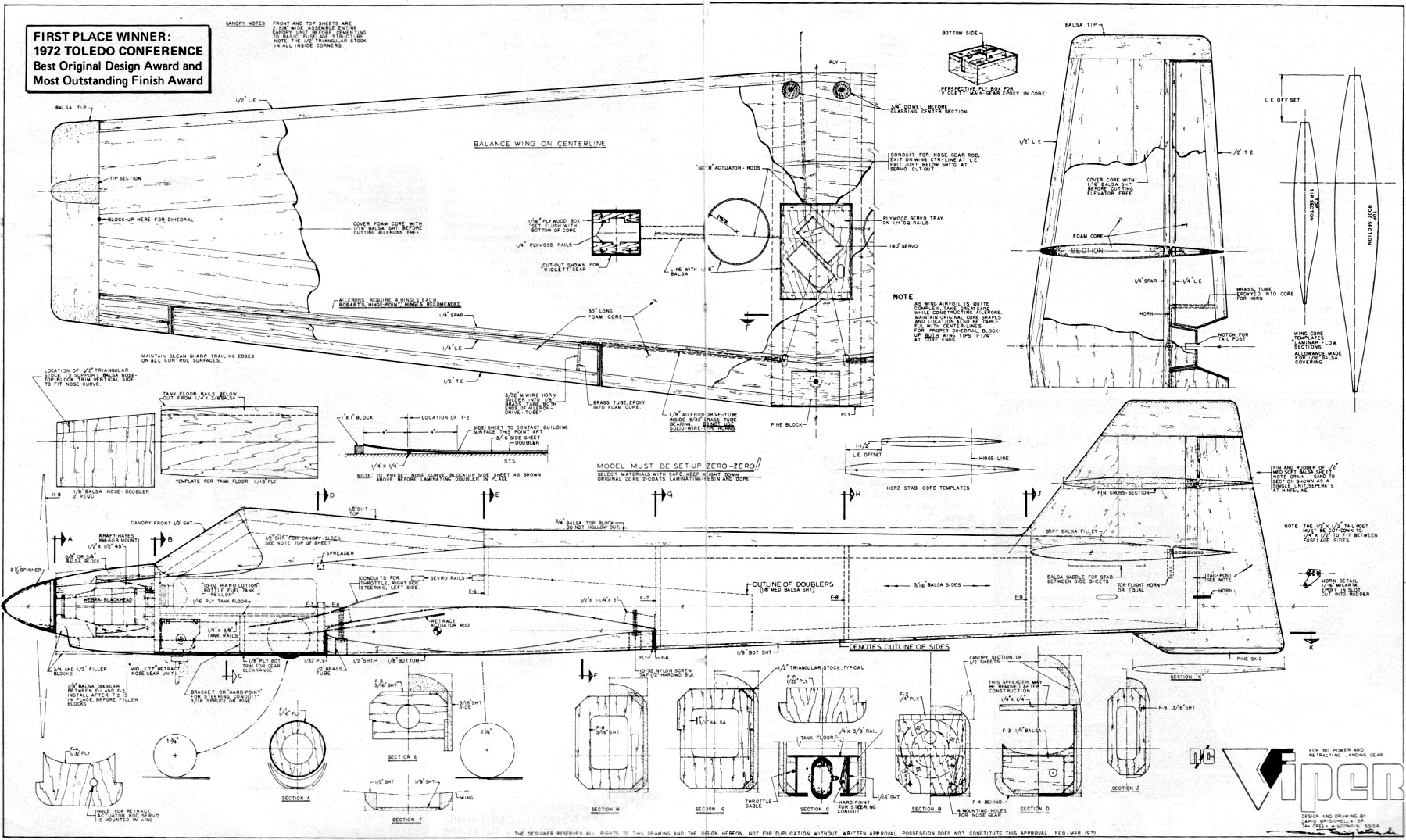 Viper Article & Plans, January 1973, American Aircraft