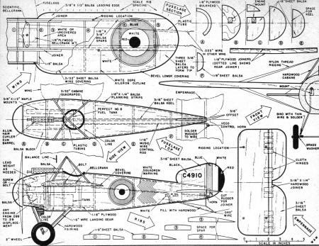 World War One Bristol M. 1C Control Line Scale Article