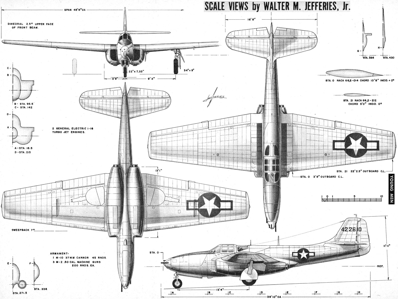 America S First Jet Fighter Bell P 59 February