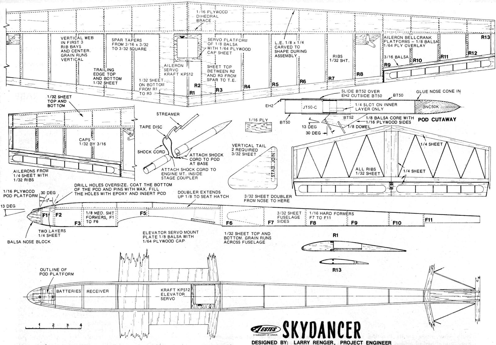 Skydancer Rocket Boost R C Glider Article Amp Plans March