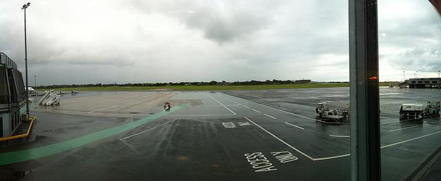 Belfast International Airport, drizzle by Steve Bowbrick