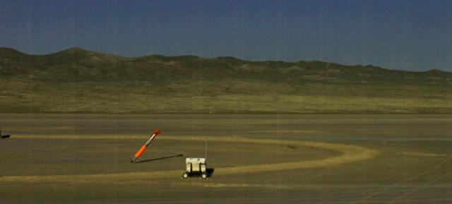 Inert B-61 test bomb strikes its target. Credit: National Nuclear Security Administration