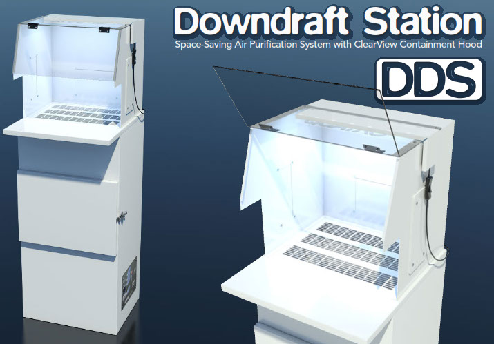 Downdraft Station | Space Saving Air Filtration System for Dust and Chemical Odors