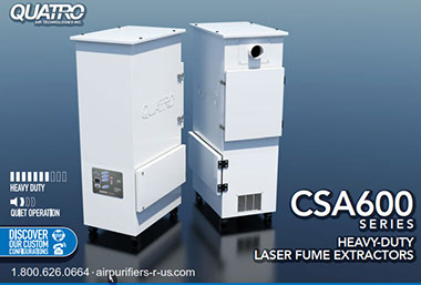 CSA600 Heavy Duty Laser Fumes Dust Odor Extractor Air Filtration System