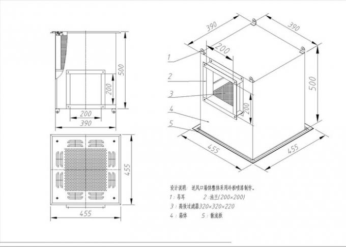 Semiconductor Clean Room HEPA Filter Box With Airflow