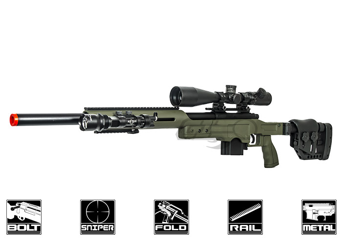 Well MB4410 Bolt Action Sniper Airsoft Rifle ( OD Green )