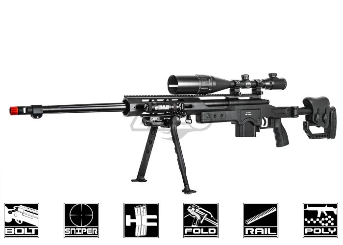 Well MB4411B Bolt Action Sniper Airsoft Rifle ( Black )