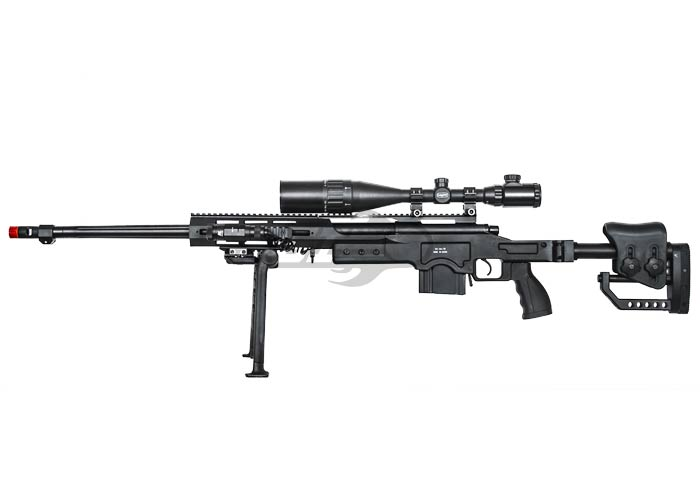 Well MB4411B Bolt Action Sniper Rifle Airsoft Gun ( Black )