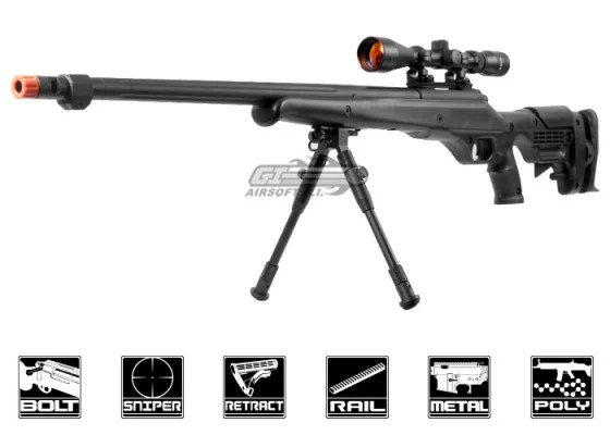 Well MB12D Bolt Action Sniper Airsoft Rifle Scope Package