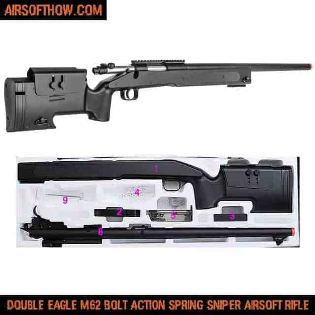 Double Eagle M62 Bolt Action Spring Sniper Airsoft Rifle