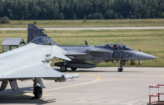 Typhoon and Gripen