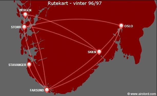 Rutekart vinter 96/97