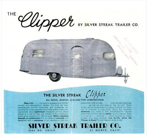 Vintage Trailer Silver Streak Clipper 1952 Classic