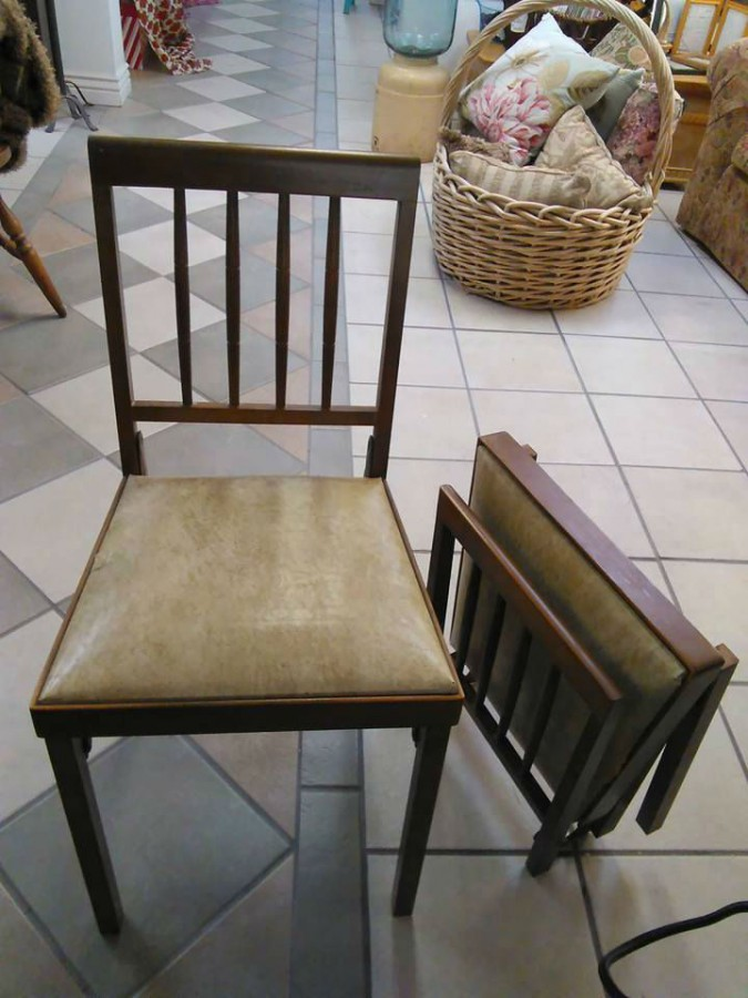 folding chairs for sale heavy duty patio 2 vintage leg o matic wood (airstream)