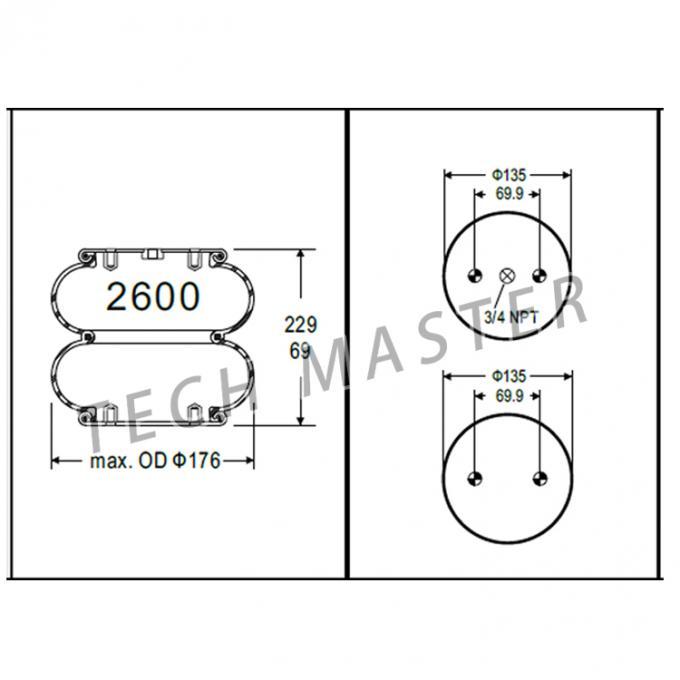 OEM W01-358-3403 Industrial Air Springs Car Part For