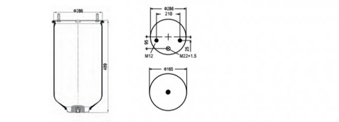 SAF 2923V Truck Air Bags Suspension Air Suspension Bag W01