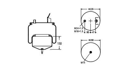 Air Suspension Spring Bag For Trucks Service Assembly OEM