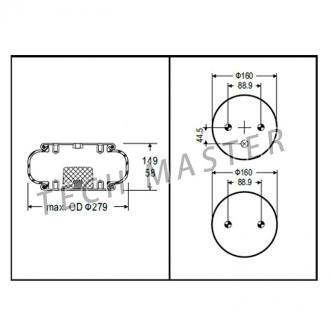 1B9-202 Industrial Air Springs For Goodyear Trucks Parts