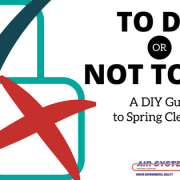 a checklist of things you can and shouldn't do on your own for spring cleaning