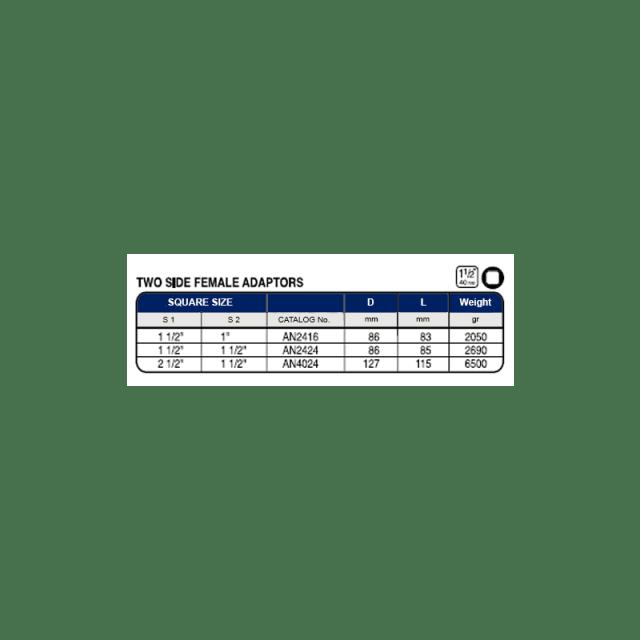 TABELLA 1 1 2 SQ DRIVE TWO SIDE FEMALE ADAPTORS 1 Avvitatori per assemblaggio industriale La miglior qualità di una bussola per avvitatura è riscontrabile dalla capacità di sopportare il maggior numero di colpi ad impatto generati dagli utensili, dalla precisione con cui avviene l'accoppiamento tra l'albero di uscita dell'avvitatore ed il drive ( attacco quadro) della bussola e dalla qualità del materiale in cui la bussola viene realizzata. Le bussole OZAT di Airtechnology sono inoltre realizzate con speciali lavorazioni che combinano le tradizionali elettroerosioni in uno speciale bagno chimico .Tale procedimento conferisce alle bussole caratteristiche di resistenza all'usura e robustezza all'utilizzo uniche nel mercato.