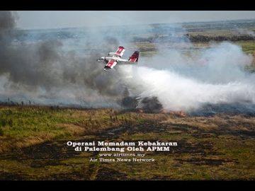 Operasi Memadam Kebakaran Di Palembang Oleh APMM