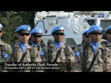 MALBATT 850-5 News : Perbarisan Serah Terima Tugas dan Transfer of Authority