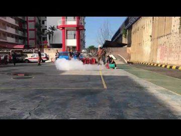 #TragediTahfiz: Demonstrasi Nyalaan Dari Tong Gas LPG Oleh JBPM