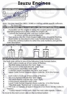 ISUZU  manual diagnostic jumper settings, www