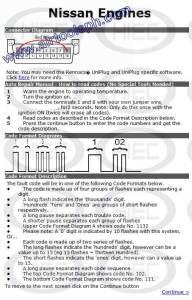 NISSAN 16  PINS manual diagnostic jumper settings, www