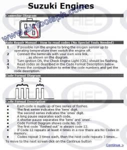 SUZUKI 4 PINS  manual diagnostic jumper settings, www