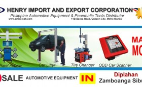 For sale Automotive Equipment and in Diplahan Zambonga Sibugay-Car lifter-tire changer-wheel aligner-scanner-engine-car