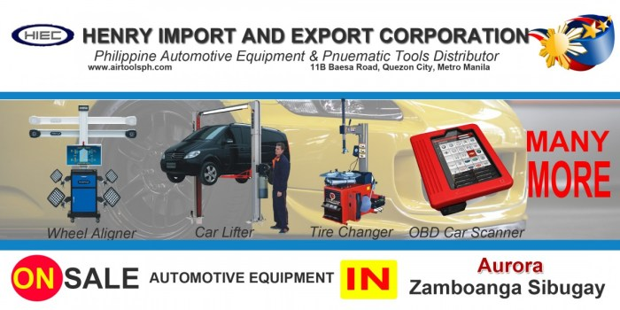 For sale Automotive Equipment in Aurora Zambonga Sibugay-Car lifter-tire changer-wheel aligner-scanner-engine-car