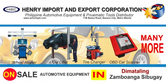 For sale Automotive Equipment in Dimataling Zambonga Sibugay-Car lifter-tire changer-wheel aligner-scanner-engine-car